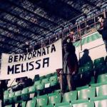 Striscione Melissa Satta