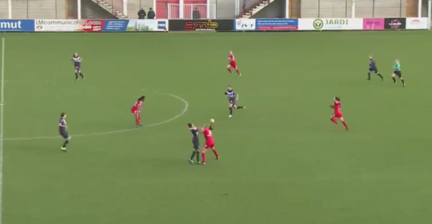 A crazy punch up in the French women's match
