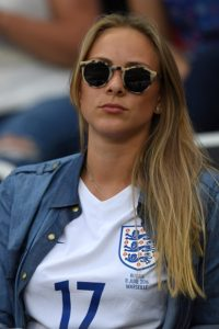 Daniela Casal, girlfriend of England's midfielder Eric Dier, attends the Euro 2016 round of 16 football match between England and Iceland at the Allianz Riviera stadium in Nice on June 27, 2016. England lost 2-1 to Iceland. / AFP / PAUL ELLIS (Photo credit should read PAUL ELLIS/AFP/Getty Images)