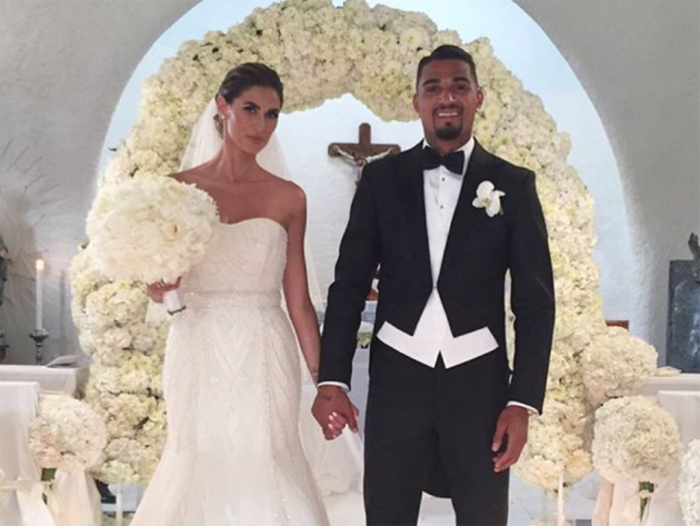 Melissa Satta and Kevin Boateng's wedding