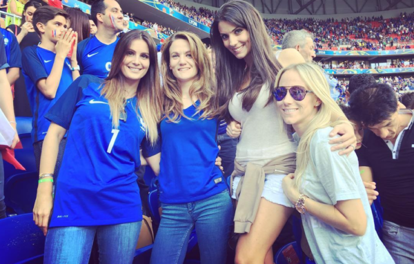 French WAGs on pitch